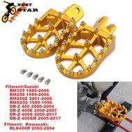เท้าหมุดเท้าFootpegs RestsเหยียบสำหรับSuzuki RM125 RM250 250Z RMZ250 RMX250 DR-Z 400 DRZ400S DRZ400SM KLX400R Dirt Bike