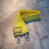全新 KIPLING 香蕉黃 點點 帆布背帶 專櫃購買