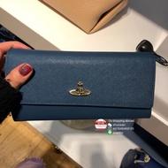 英國代購 Vivienne Westwood 女士十字紋皮革按扣翻蓋長款錢包長夾皮夾 12卡