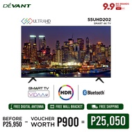 DEVANT 55-inch 55UHD202 Smart 4K TV with FREE Digital Antenna - Pre-loaded with Netflix, YouTube and Anyview Cast App