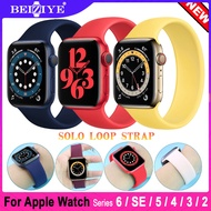 New Solo Loop Strap for Apple Watch 6 5 band 40MM/44MM i Watch 3 2 1 Wristband 38mm/42mm Belt Silicone Solo Loop bracelet Watch Strap for apple watch series 6 5 4 3 2 SE watchband acceccories