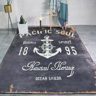北歐工業風地毯客廳沙發ins風地墊店鋪復古耐髒潮流個性定制WY~~全館85折起