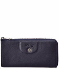 Longchamp Womens  Leather Zip Around Wallet