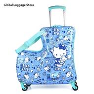 กระเป๋าเด็ก Multifation สามารถนั่งสกู๊ตเตอร์กระเป๋าเดินทางกันน้ำ-Resisrant กระเป๋าเดินทางและกระเป๋าเดินทาง