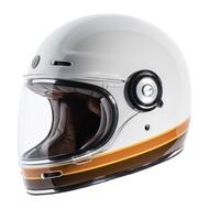 【TORC】2018 新款 美國 TORC T1 ISO BARS 復古帽 樂高帽 全罩 安全帽 亮白