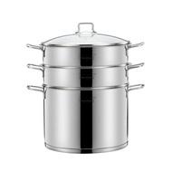 蒸籠 momscook 蒸鍋304不銹鋼家用多層蒸格蒸屜2層雙層3層復底加厚28cm
