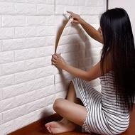 3D牆貼 加厚0.6版仿磚塊浮雕牆紙 防水隔音牆貼 背膠石壁貼 壁紙 無毒 無味【DW199】◎123便利屋◎