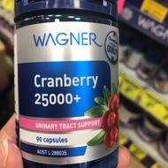 澳洲Wagner蔓越莓高濃縮膠囊25000mg