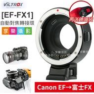 [享樂攝影](送鏡頭袋)唯卓Viltrox EF-FX1 自動對焦轉接環 Canon EOS 轉 富士FX  EF-FX 含腳架座 平輸店保1年 XT20/XPRO2/XA5