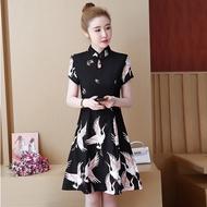 Chinese Oriental Cheongsam Dress Women Retro Elegance Evening Party Dresses