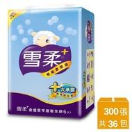 【雪柔】平版衛生紙-300張*6包*6串
