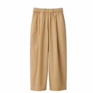 無印良品 MUJI 高密織舒適寬擺褲