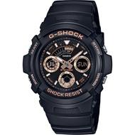 GSHOCK手錶 G-SHOCK 無限Tough精神雙顯腕錶-玫瑰金(AW-591GBX-1A4)
