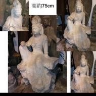 自在觀音 石雕 坐像