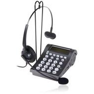 特價400型,來電顯示 話務耳機電話+免持聽筒耳機,客服電訪人員電話行銷;家用電話可用