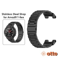 Otto.Stainless Steel Smart Watch Strap for Huami Amazfit T-Rex Pro/Amazfit T-Rex