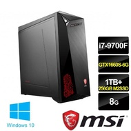 【MSI 微星】Infinite 9SI-1021TW 電競桌機(i7-9700F/8G/1TB+256GB M2. SSD/ GTX 1660S 6G/Win10)