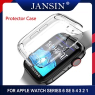 Silicone Soft Case For Apple Watch Series 5 4 3 2 1 44mm 40mm 38mm 42mmTPU Protector Cases For Apple Watch SE 6 44mm Cover