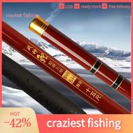 craziest fishing 5H 19 Carp Rod Athletic Rod Battle Rod Black Pit Giant Rod 1.8/3.9/5.7m tongkat pancing Tongkat ikan