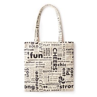 Kate Spade KSNY Women's Canvas Book Tote Bag (Off White)
