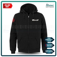 Zip Hoodie Sulam Yamaha Tech3 MotoGP Motorcycle Motosikal Superbike Racing Team Bike Casual Y15 SRL Y125Z LC RXZ TZM