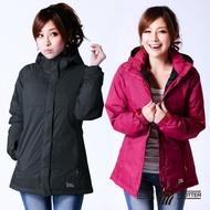 【遊遍天下】女款GlobeTex防水防風禦寒中長版羽絨外套 二色(M-5L)