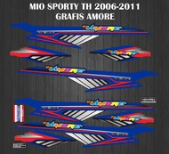 decal striping stiker motor mio sporty th 2006-2009 grafis amore