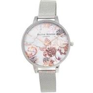 OLIVIA BURTON OB16CS10 魔法花園 銀色金屬網狀錶帶女錶38mm