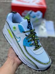 "Nike Air Max 90 ""WorldWide"" รองเท้าผ้าใบ รองเท้าแฟชั่น รองเท้าผู้ชาย รองเท้าผู้หญิง รองเท้าออกกำลังกาย [FULL-BOXSET]"