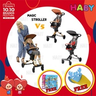 ▥10.10 SALE HABY Kids V5/V3 Ultra Lightweight Foldable Portable 2 Way Magic Stroller