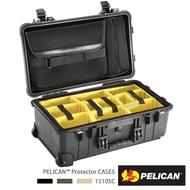 ..  美國 PELICAN 1510SC 輪座拉桿超輕氣密箱 (上蓋電腦包+隔板組) 黑色 可放筆電 公司貨