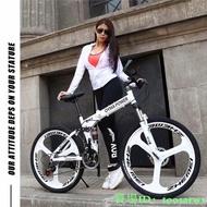 新款熱銷*OYMA折疊腳踏車24、26吋鋁鎂合金ㄧ體輪21、24、27段變速雙避震折疊登山車