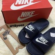 Nike 海軍藍 拖鞋