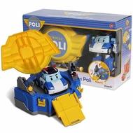 【POLI 變形車系列】LED變形波力手提基地