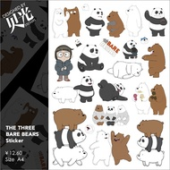 Naked bear we WeBareBears around luggage stickers waterproof notebook trolley suitcase beiguang 39
