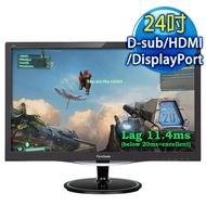 ViewSonic VX2457-mhd 24型 電競螢幕(1920×1080/D-Sub+HDMI+DP)
