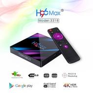 H96MAX RK3318智能電視盒,帶Android 9 9.0 4GB 32GB 64GB 4K Youtube媒體