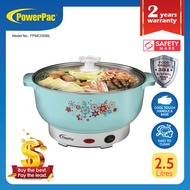 PowerPac Steamboat 2.5L Electric Multi cooker noodle cooker pot with 304 Stainless steel inner pot (PPMC585BL)