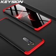 Keysion 3 in 1 กรณีโทรศัพท์สำหรับ OPPO realme X2 X2 Pro 5 3 Pro อัลตร้าบาง 360 เต็มป้องกันปกหลังสำหรับ realme XT x Q C2 K3