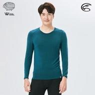 【ADISI】男美麗諾混紡羊毛圓領彈性保暖衣AU2021029 / S-2XL(抗靜電 消臭 透氣 發熱衣 衛生衣)