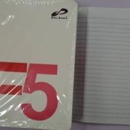 Dotdown F5 single line exercise book 80pcs (10 books per pkgs)