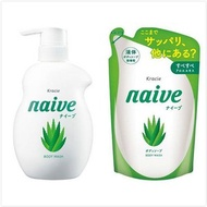 Naive 娜艾菩植物沐浴乳-水潤蘆薈組(530ml+380ml*2)