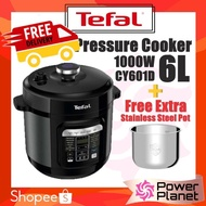 [🚚FREE SHIPPING - FREE 1 x STAINLESS STEEL POT] Tefal Pressure Cooker CY601D65 6L Fast Cook CY601D or XA622D POT ONLY