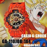 (ลดล้างสต๊อก)CASIO G-SHOCK นาฬิกาข้อมือแฟชั่นในรูแบบ Dragon Ball รุ่น GA-110JOB-1A4 สุดฮอตในปี2020 หน้าปัด40mm พร้อมกล่อง