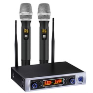 UHF Wireless Microphone System, Wireless Microphone Long Distance 150-200Ft, over PA, Mixer, Speaker , for House Parties, Karaok