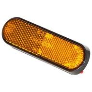 【德國Louis】摩托車反光片 橘色弧形底座反射片自黏式背膠重型機車重機改裝橢圓形警示片前叉弧度反光貼片10036248