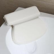 PU海綿圓形浴缸枕頭浴缸靠枕浴室洗浴頭枕吸盤洗澡頭枕 浴缸枕