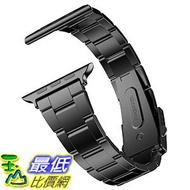 [美國直購] JETech 1,2,3 Watch  代適用 Watch-Band-42-STEEL Apple Watch 42mm 不鏽鋼錶帶 - 黑色