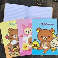 ✨LGKAR✨日本卡通拉拉熊幼稚園小學生A5卡通小熊輕松熊單行本 甜美記事本 軟面抄 筆記本