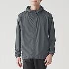[MUJI無印良品]男防潑水防風聚酯纖維風衣外套S深灰